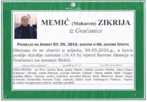 Memić (Muharem) Zikrija